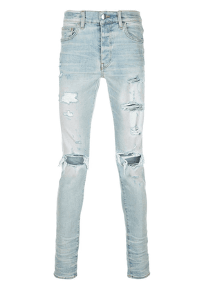 Blue Men's Distressed Effect Jeans