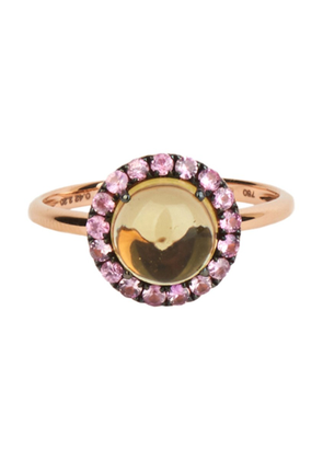 Gold Women's 18Kt Gold Round Cabochon Ring