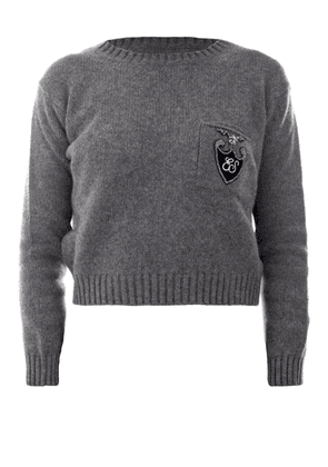 Logo Crest Wool And Cashmere Sweater