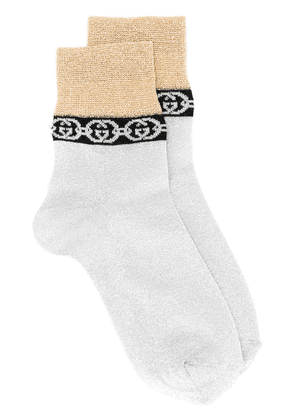 Gucci GG two-toned socks - SILVER