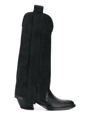 Bruno Bordese tall panelled boots - Black