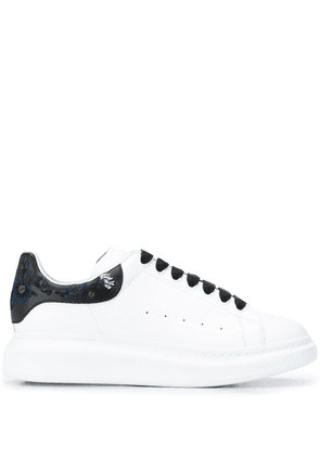 Alexander McQueen oversized embroidered floral sneakers - White
