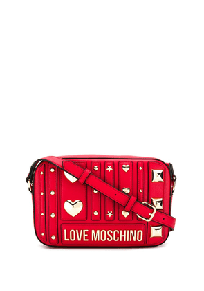 Love Moschino embellished crossbody bag - Red