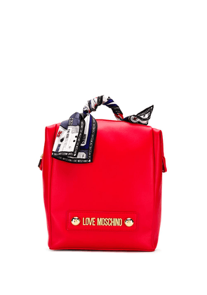 Love Moschino scarf-embellished backpack - Red