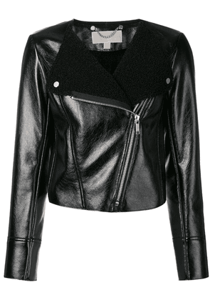 Michael Michael Kors round neck fitted jacket - Black