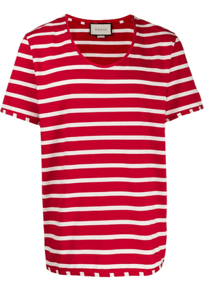 Gucci striped scoop-neck T-shirt - Red