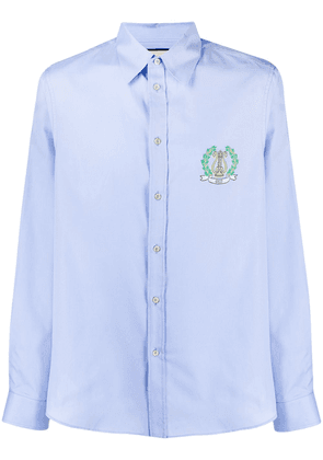 Gucci logo embroidered shirt - Blue