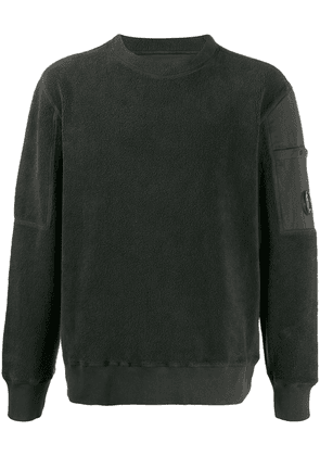 CP Company lens detail pile sweatshirt - Grey