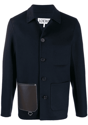 Loewe patch pocket single-breasted jacket - Blue