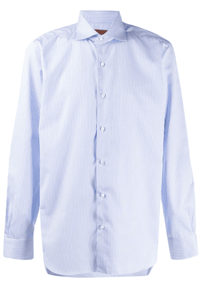 Barba long-sleeved striped shirt - Blue