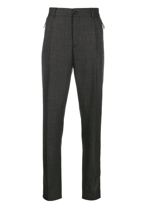 Burberry check tailored trousers - Grey