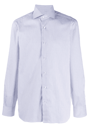 Barba striped formal shirt - White