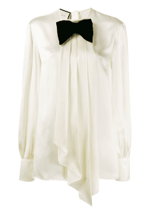 Gucci bow-embellished blouse - Yellow