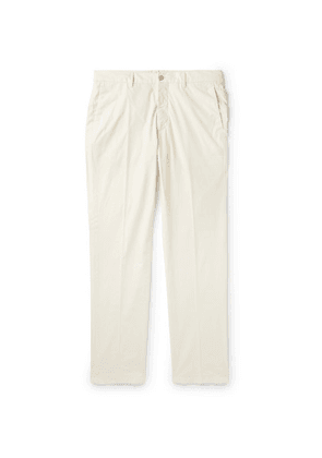 Dunhill - Slim-fit Stretch-cotton Chinos - Off-white