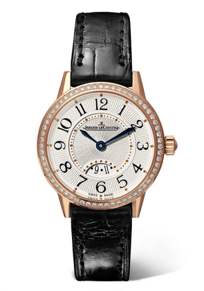 Jaeger-LeCoultre - Rendez-vous Date Small Quartz 29mm Rose Gold, Alligator And Diamond Watch - one size
