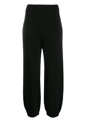 Circus Hotel ribbed knit straight trousers - Black