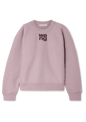 alexanderwang.t - Oversized Printed Cotton-blend Fleece Sweatshirt - Lilac