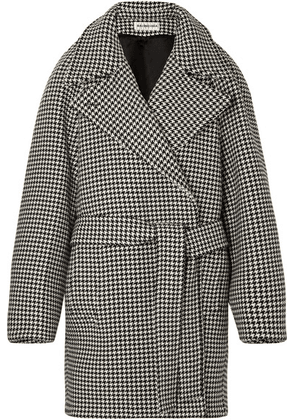 Balenciaga - Oversized Belted Houndstooth Wool And Cashmere-blend Jacket - Black