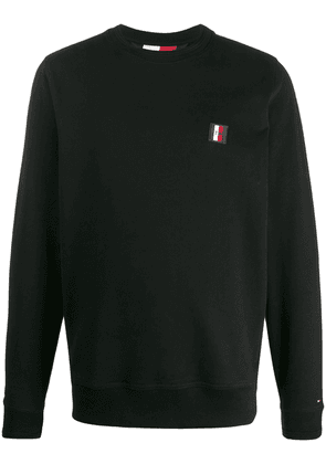 Tommy Hilfiger logo patch sweatshirt - Black