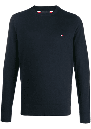 Tommy Hilfiger soft crewneck logo jumper - Blue