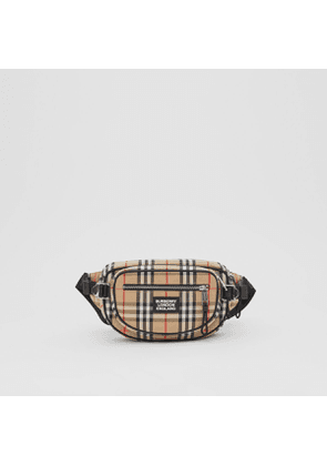 Burberry Medium Vintage Check Cotton Cannon Bum Bag, Beige