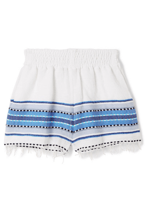 LemLem Kids - Welela Frayed Striped Cotton-blend Gauze Shorts - White