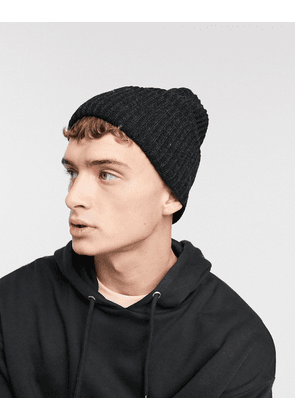 ASOS DESIGN oversized beanie in charcoal-Grey