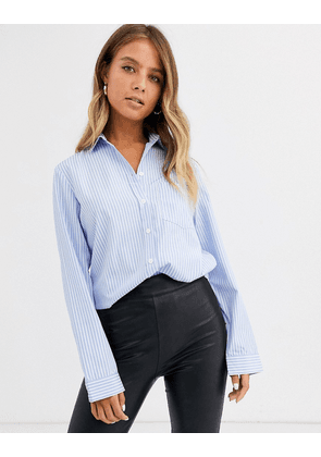 New Look classic striped shirt in blue