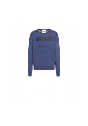 Moschino Couture Cashmere And Cotton Pullover