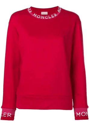 Red Women's Long Neckline Jumper