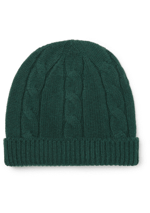Anderson & Sheppard - Cable-knit Wool Beanie - Green