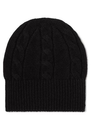 Anderson & Sheppard - Cable-knit Wool Beanie - Black