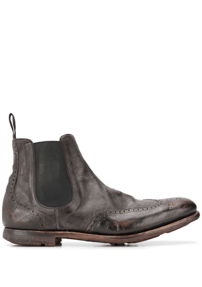 Church's distressed effect chelsea boots - Brown
