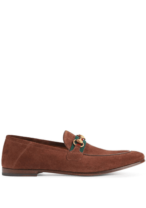 Gucci Horsebit Web loafers - Brown