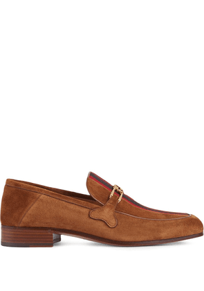 Gucci Web Interlocking G loafers - Brown