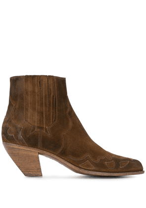 Golden Goose Sunset Flowers ankle boots - Brown