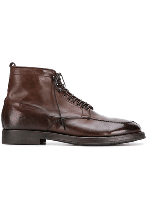 Alberto Fasciani lace up ankle boots - Brown