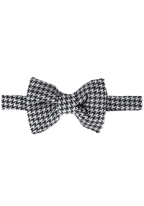Tom Ford houndstooth pattern bow - Black