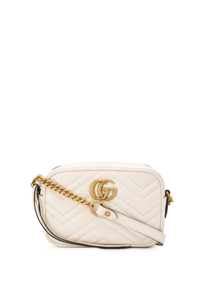 Gucci mini GG Marmont matelassé shoulder bag - White