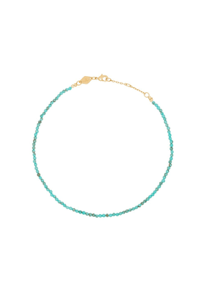 Anni Lu Wave beaded anklet - Blue