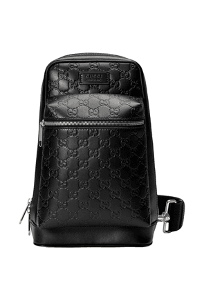 Gucci Gucci Signature leather backpack - Black