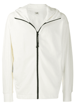 CP Company Goggle zipped hoodie - White