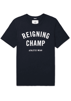 Reigning Champ - Logo-print Cotton-jersey T-shirt - Navy