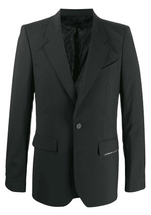Givenchy label patch fitted blazer - Black