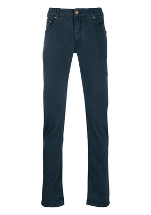 Hand Picked Orvieto slim-fit trousers - Blue