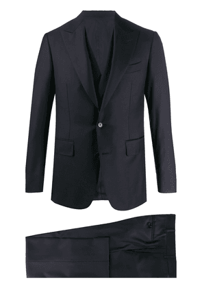 Canali single-breasted formal suit - Blue