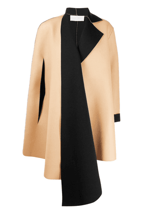 Esteban Cortazar colour block oversized tailored coat - NEUTRALS