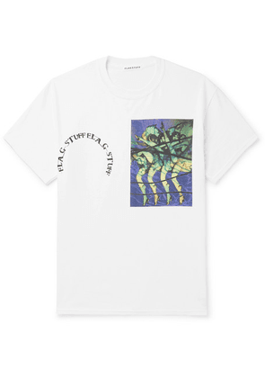 Flagstuff - Printed Cotton-jersey T-shirt - White