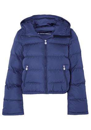 Perfect Moment - Polar Flare Hooded Quilted Down Ski Jacket - Blue