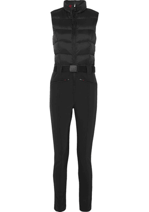 Perfect Moment - Super Star Belted Quilted Padded Ski Suit - Black